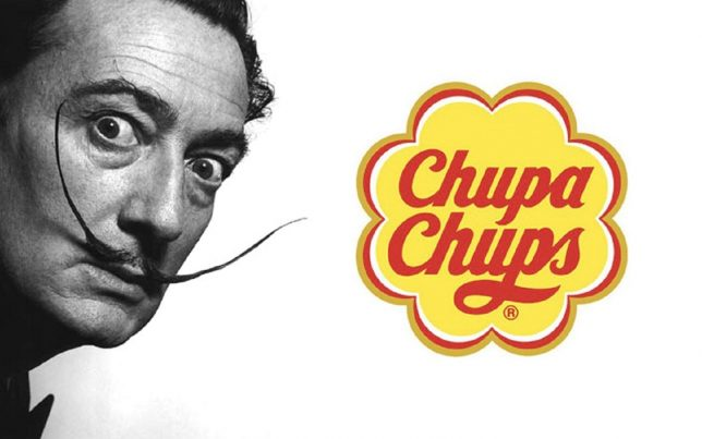 Dali and his Chupa Chups logo