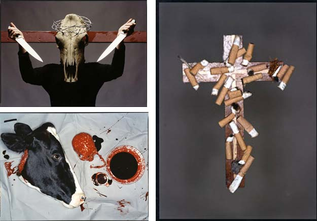 Station of the cross by amien Hirst and David Bailey