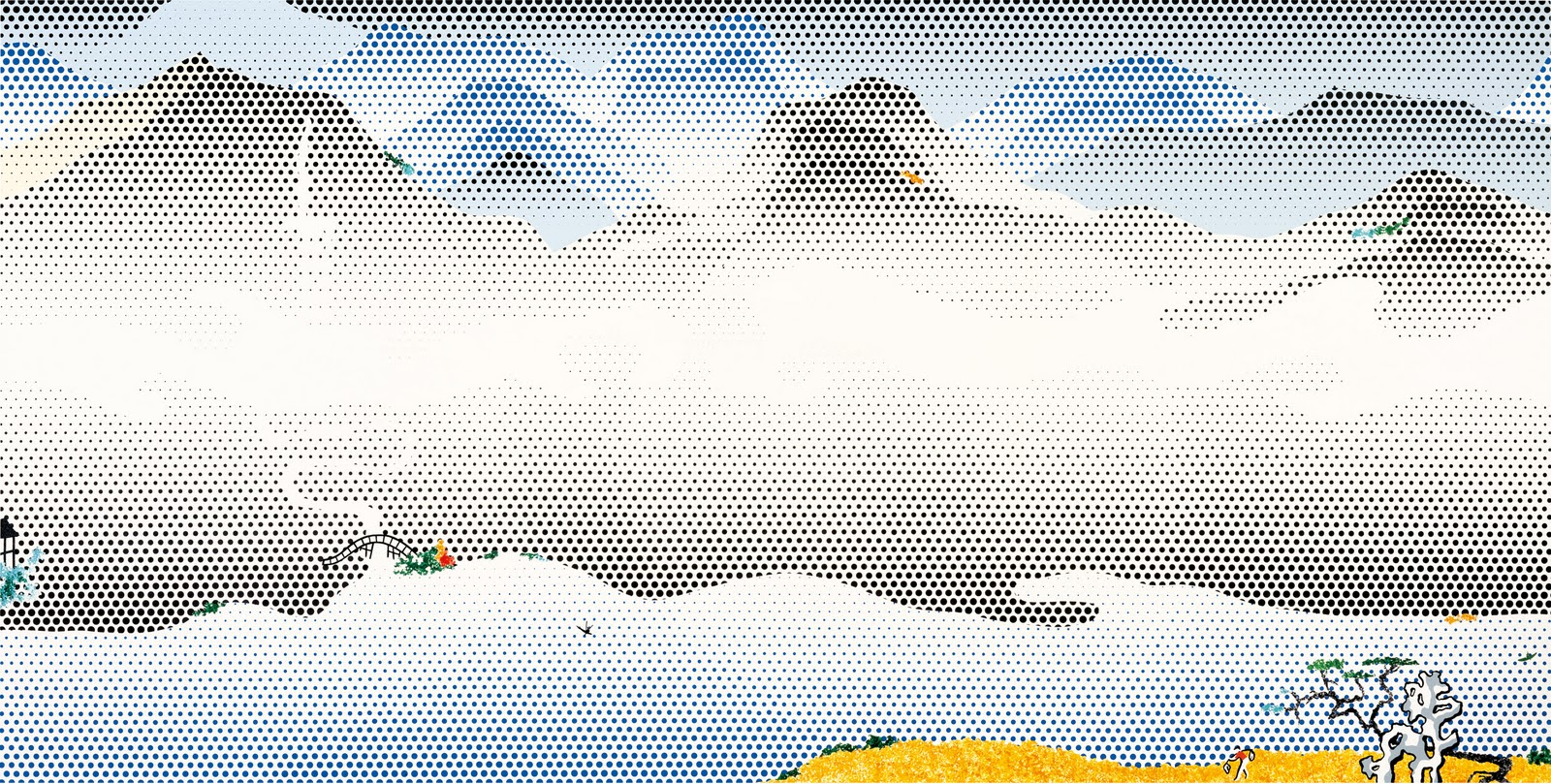 LICHTENSTEIN-1997-Landscape-with-Scholars-Rock