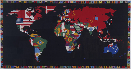Alighiero Boetti - Mappa - 1989 - © 2013  Artists Rights Society (ARS), New York  SIAE, Rome