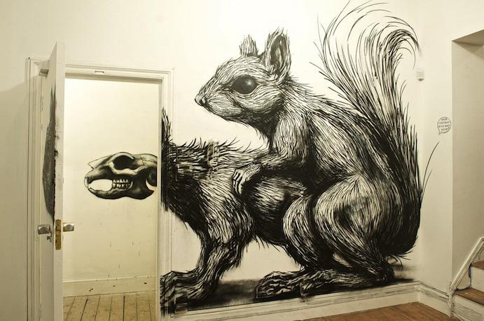 Roa, Pure Evil Gallery, Street Artistes