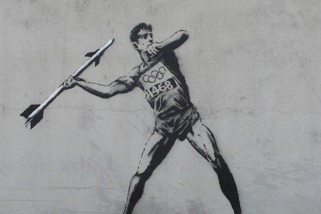 Banksy, Olympic Javelin Thrower