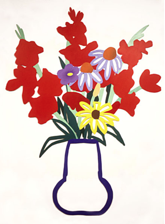 Tom Wesselmann Country Bouquet with gladiolas