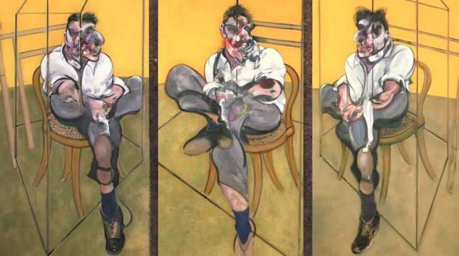 Trois études de Lucian Freud, Francis Bacon, 1969