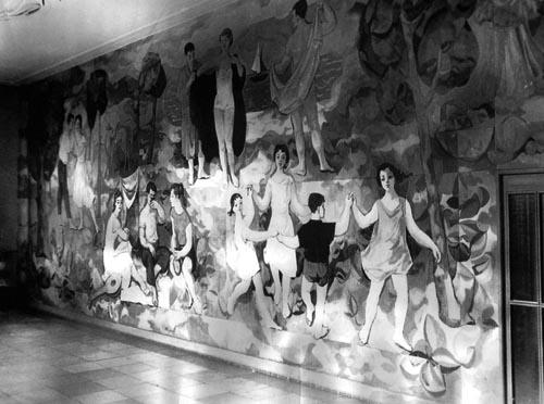 Richter mural of the German Hygiene Museum, Dresden, 1956