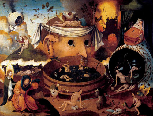 Jérôme Bosh, La Vision de Tondal, XIIe siècle