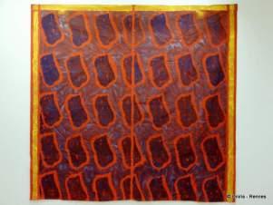 VIALLAT 2007-102 - acrylique sur tissu rouge - 242x259cm