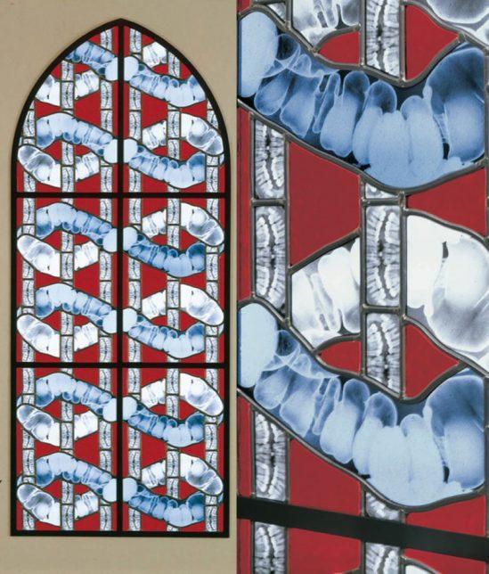 Wim Delvoye, vitrail Melpomene, 2001-2002,