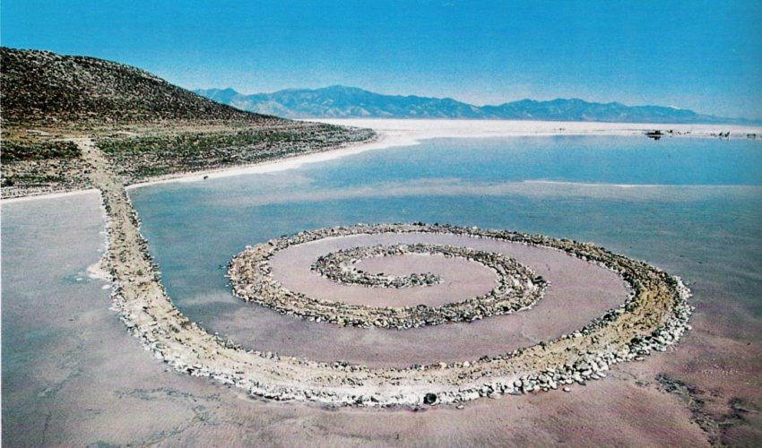 Robert Smithson, Spiral Jetty, Great Salt Lake of Utah, 1970
