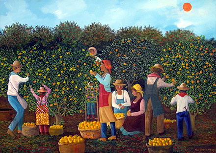 the sunny orange grove by nery