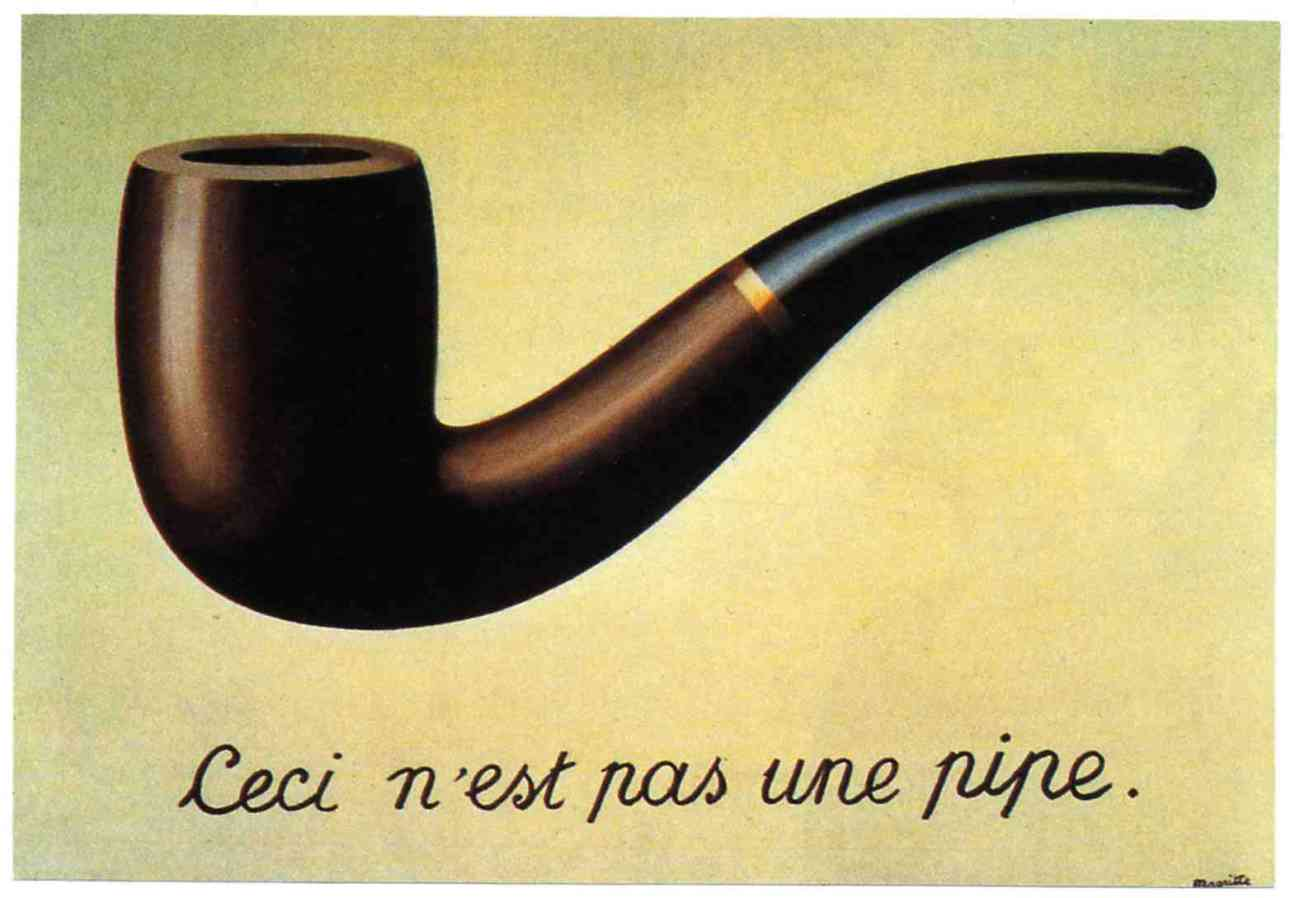 Ceci n'est pas une pipe, René Magritte, 1929