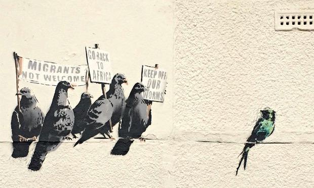 Banksy pigeons artsper