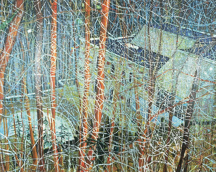 Peter Doig, The Architect's home in the ravine, oil on canvas, 1991
