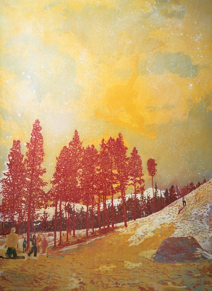 Peter Doig, Orange Sunshine, oil on canvas 1995-1996