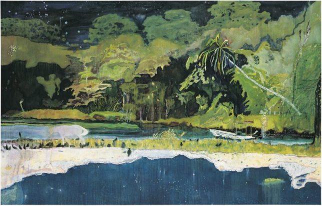 tableau de Peter Doig Grande Riviere, 2001-2002