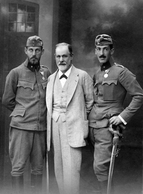 Sigmund Freud and his sons Martin and Ernst