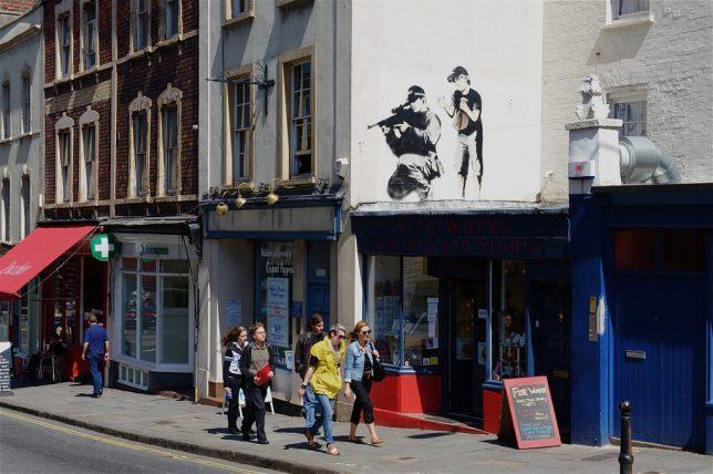 graffiti de Banksy dans les rues de Bristol