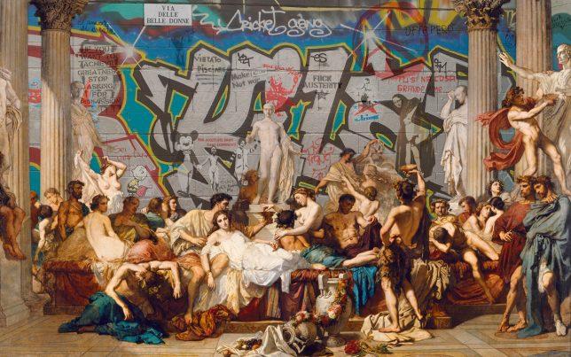 Marco Bottiglioni revisite Les Romains de la décadence, Thomas couture, 1847