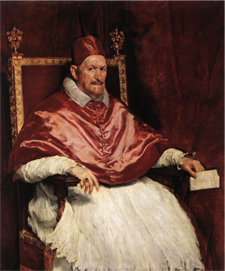 Innocent X by Diego Velazquez, painted in 1650