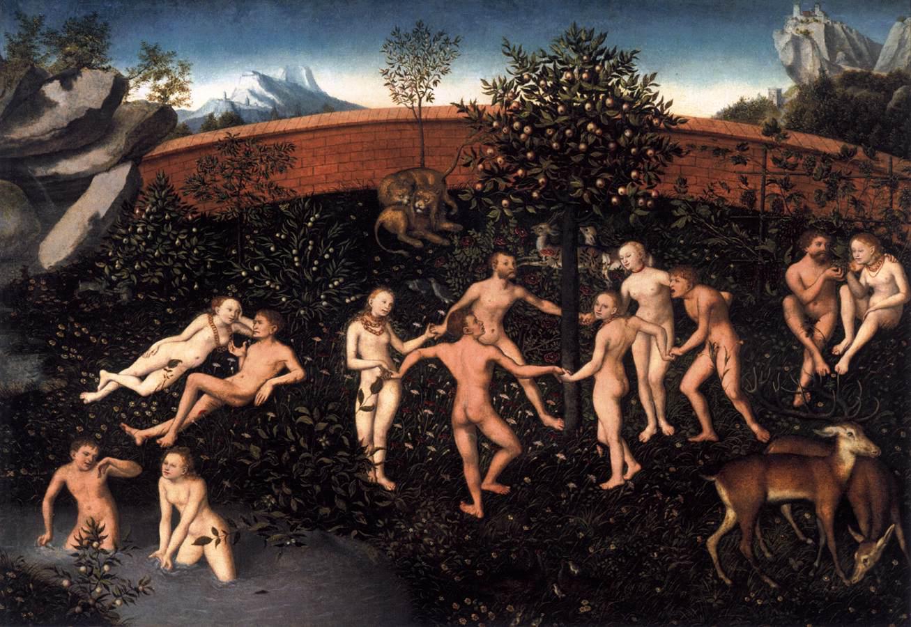 © Cranach l'ancien - L'âge d'or - artiste déléguer travail