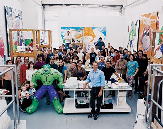 © Jeff Koons - Artistes qui délèguent leur travail