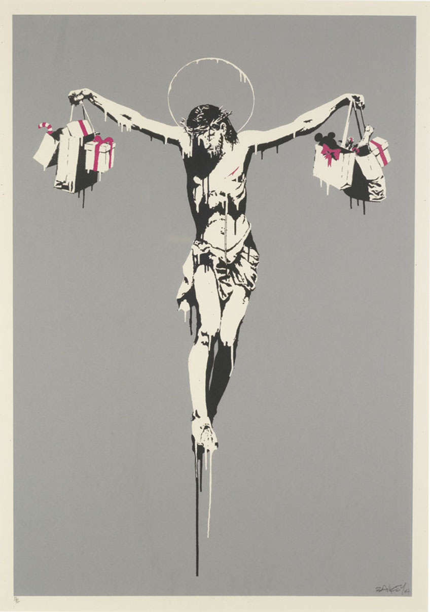 Banksy, Christ with shopping bags - Blasphème