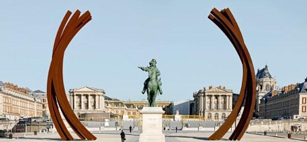 Bernard Venet à Versailles - art contemporain - copie