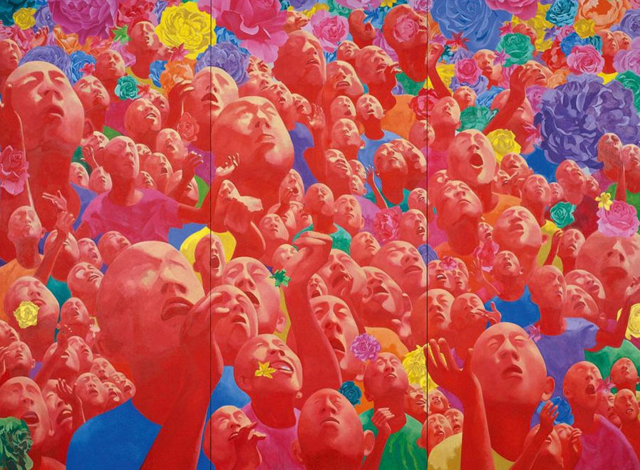 Fang Lijun, 2002.1.1; oil on canvas,