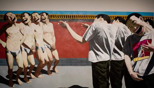 Yue Minjun-The Execution, 1995 huile sur toile