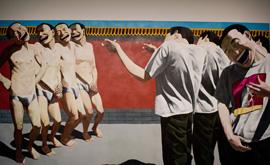 Yue Minjun-The Execution, 1995 huile sur toile - Copie