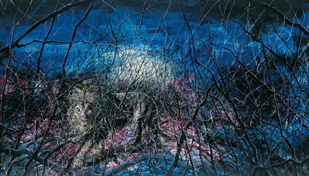 Zeng Fanzhi,Lion, 2008 Huile sur toile
