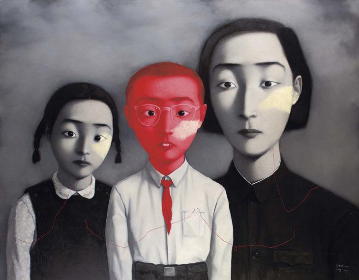 Zhang Xiaogang, a big family, 1995- huile sur toile