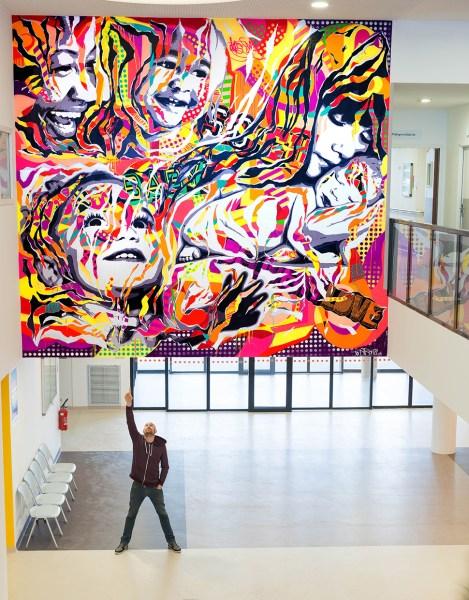 HALL FME by Jo Di Bona @ Hôpital Robert Ballanger  Aulnay-sous-Bois Janvier 2015 5mx5m 01
