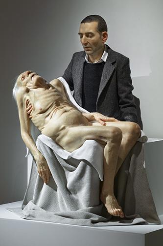 hyper-realistic sculpture
