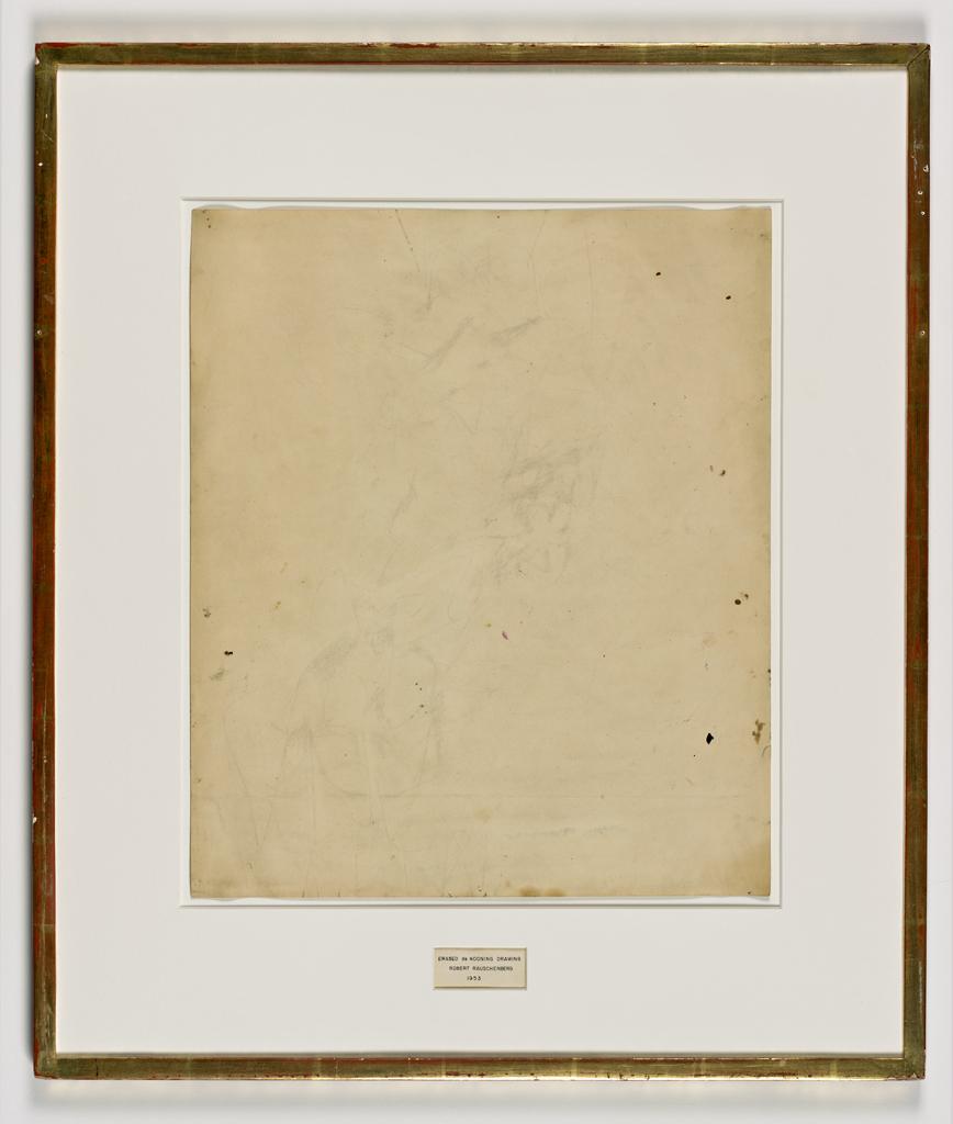 Erased de Kooning, 1953