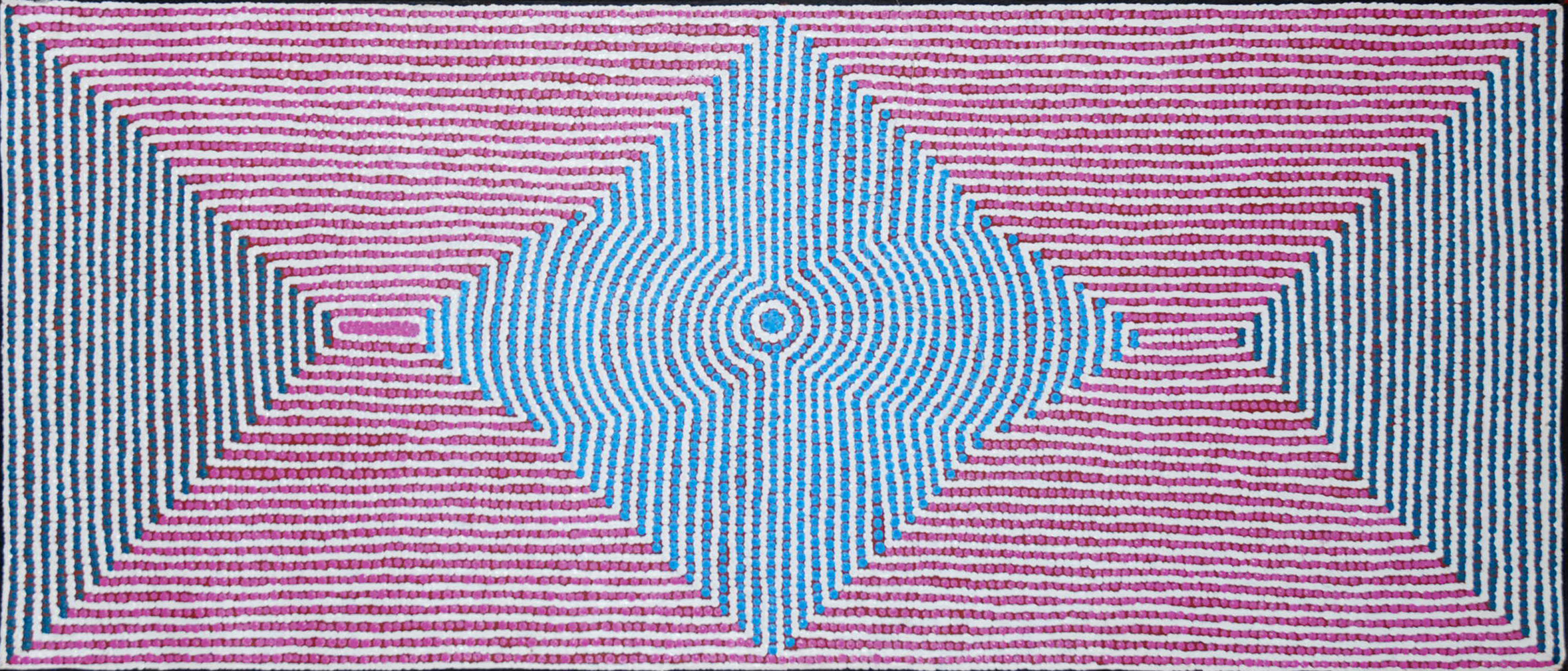 Ngurlu Jukurrpa (Native Seed Dreaming),Gloria Gill Napangardi art aborigene