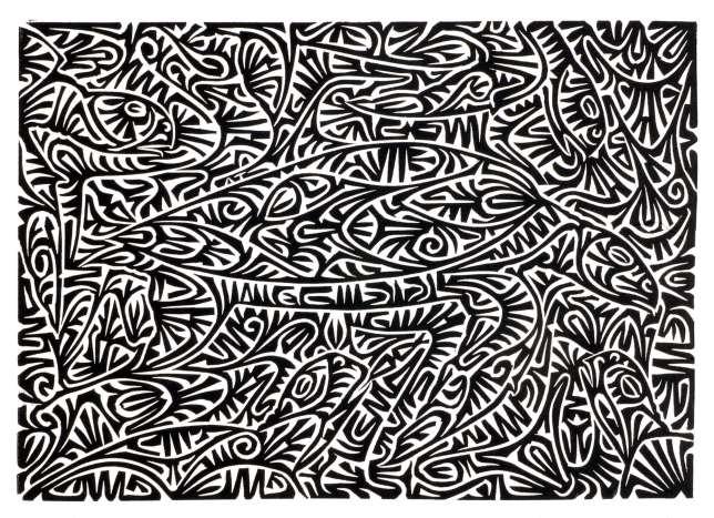 Aboriginal art: Alick Tipoti, Murai, 2006