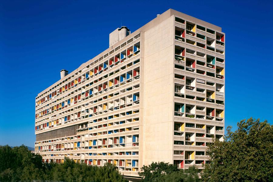 """The """"Cité Radieuse"""" in Marseille Credit : Fondation Le Corbusier"""