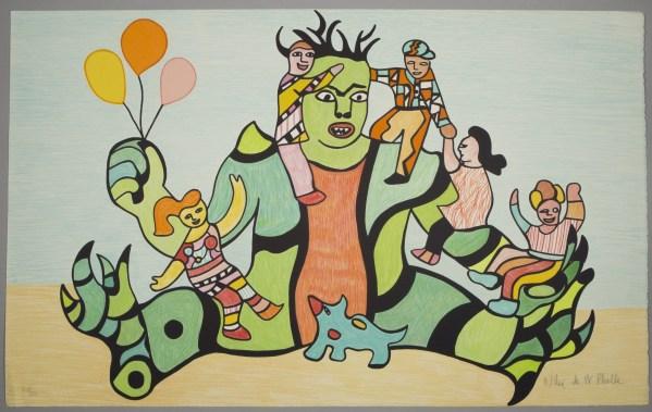 NIKI DE SAINT PHALLE - Le monstre, 1995 (lithographie originale signée et numérotée au crayon par l'artiste)