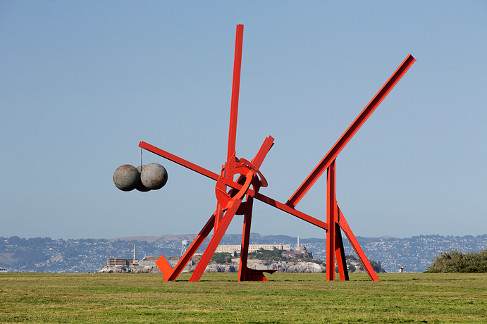 figolu red sculpture