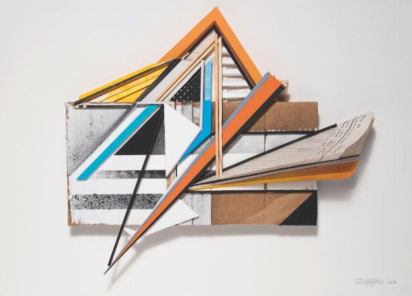 Assemblage sur carton #07, 2016