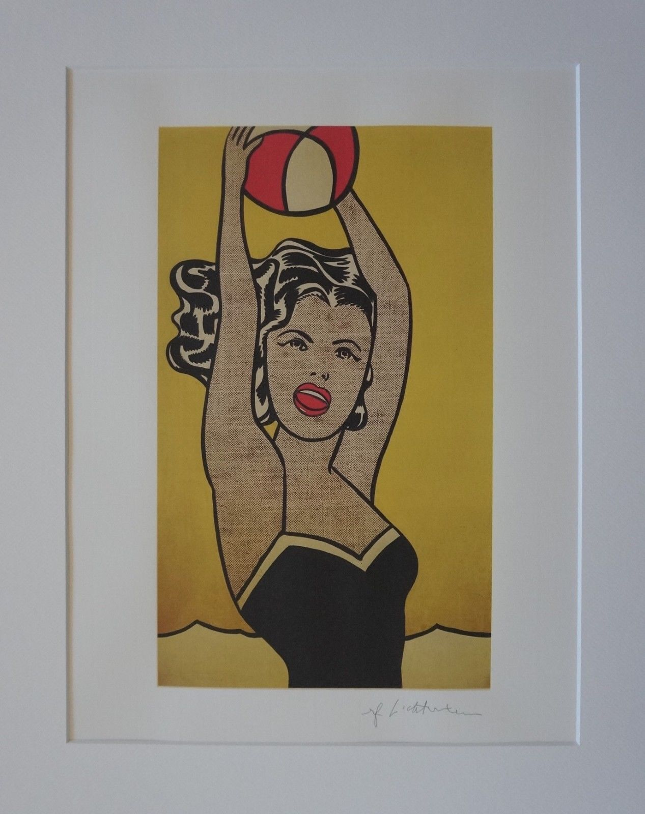 ROY LICHTENSTEIN - Girl with ball (1981), 2005 (lithographie signée dans la plaque)