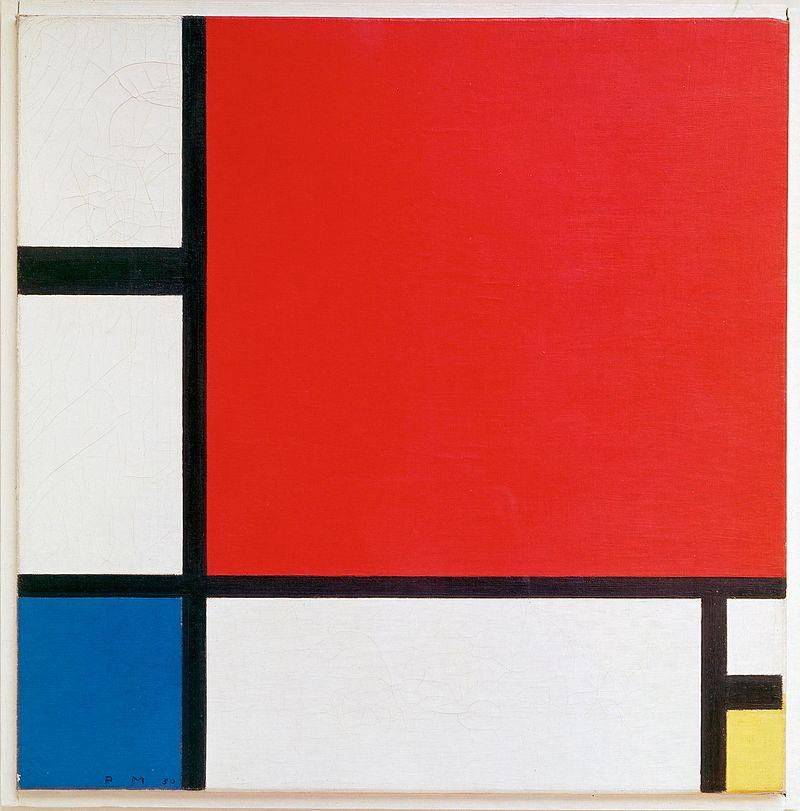 Composition II en rouge, bleu et jaune (1930)