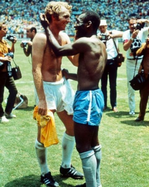Moore and Pelé in 1970