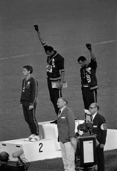 Tommie Smith and John Carlos in 1986