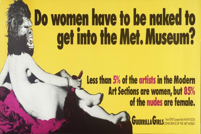 Guerilla Girls naked museum