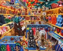 Hervé Di Rosa Cabinet du Docteur Maguey, 2000, acrylique sur toile, 220 x 246 cm