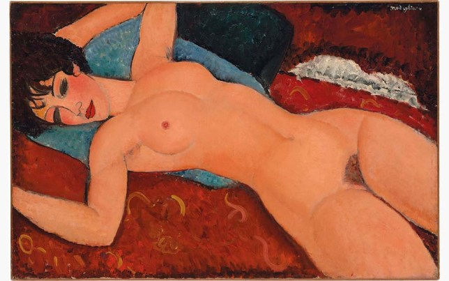 Modigliani nu dans l'art scandale peinture