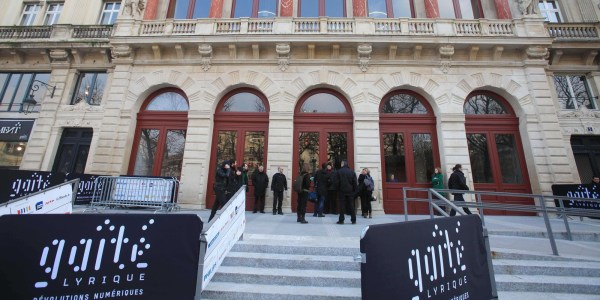 After a complete relooking by the architect Manuelle Gautrand, this old parisian theater has turned into a digital revolution temple, Paris, FRANCE- 01/03/2011/Credit:SIMON ISABELLE/SIPA/1103021811