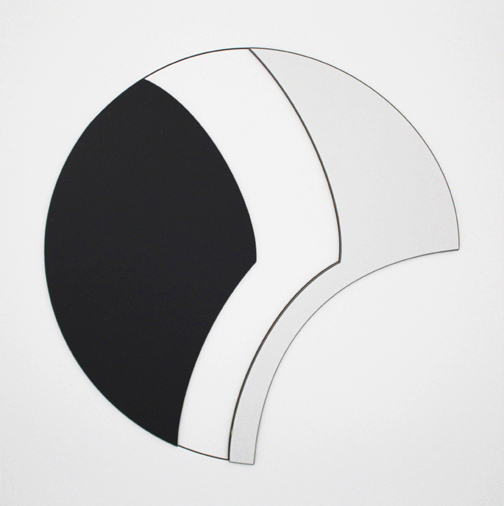 Rond noir abstraction blanc geometrique